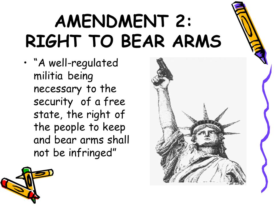 AMENDMENT 2: RIGHT TO BEAR ARMS