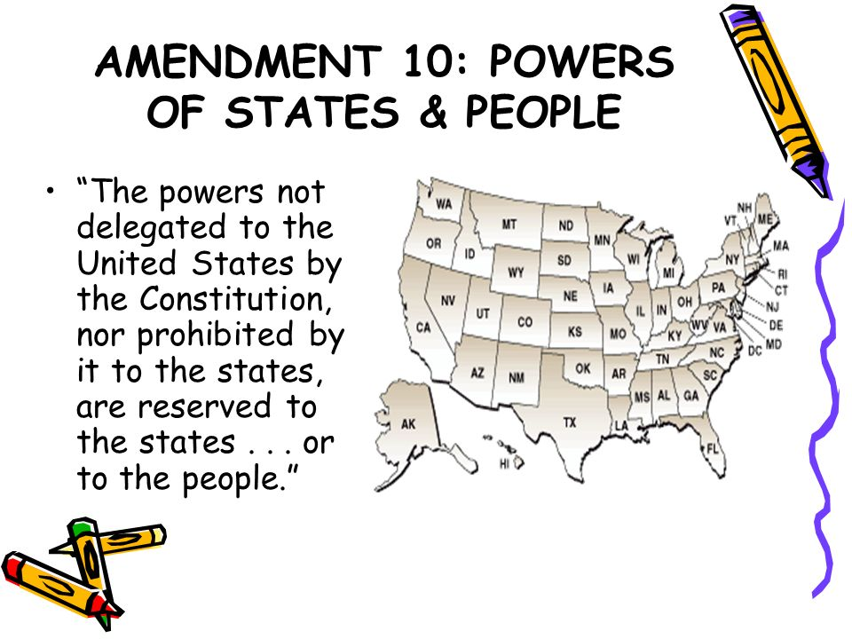 AMENDMENT 10: POWERS OF STATES & PEOPLE