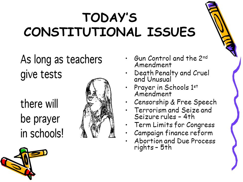 TODAY'S CONSTITUTIONAL ISSUES