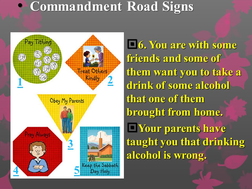 Commandment Road Signs