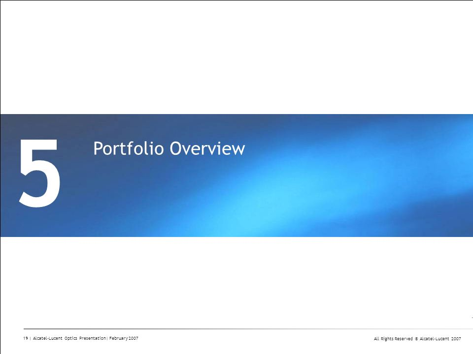 5 Portfolio Overview Divider Section Break Pages