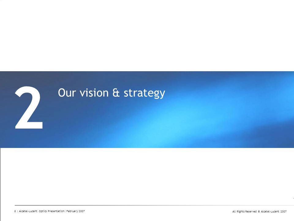 2 Our vision & strategy