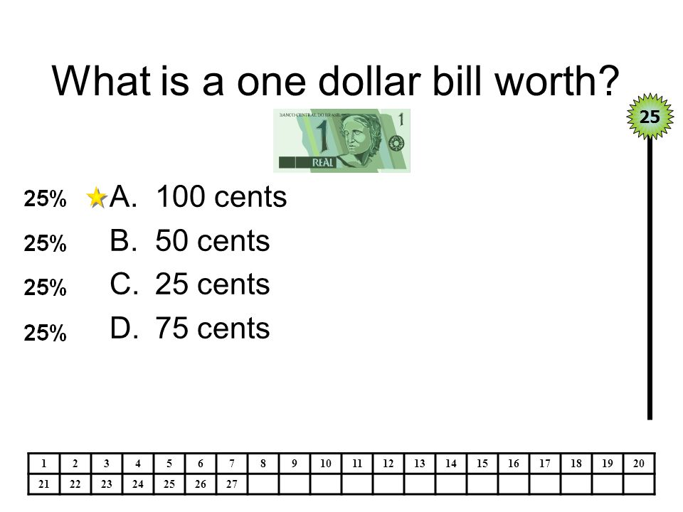 What is a one dollar bill worth