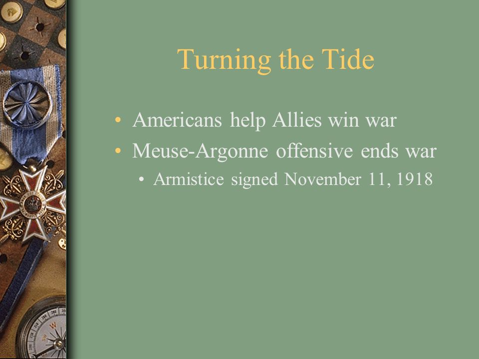 Turning the Tide Americans help Allies win war