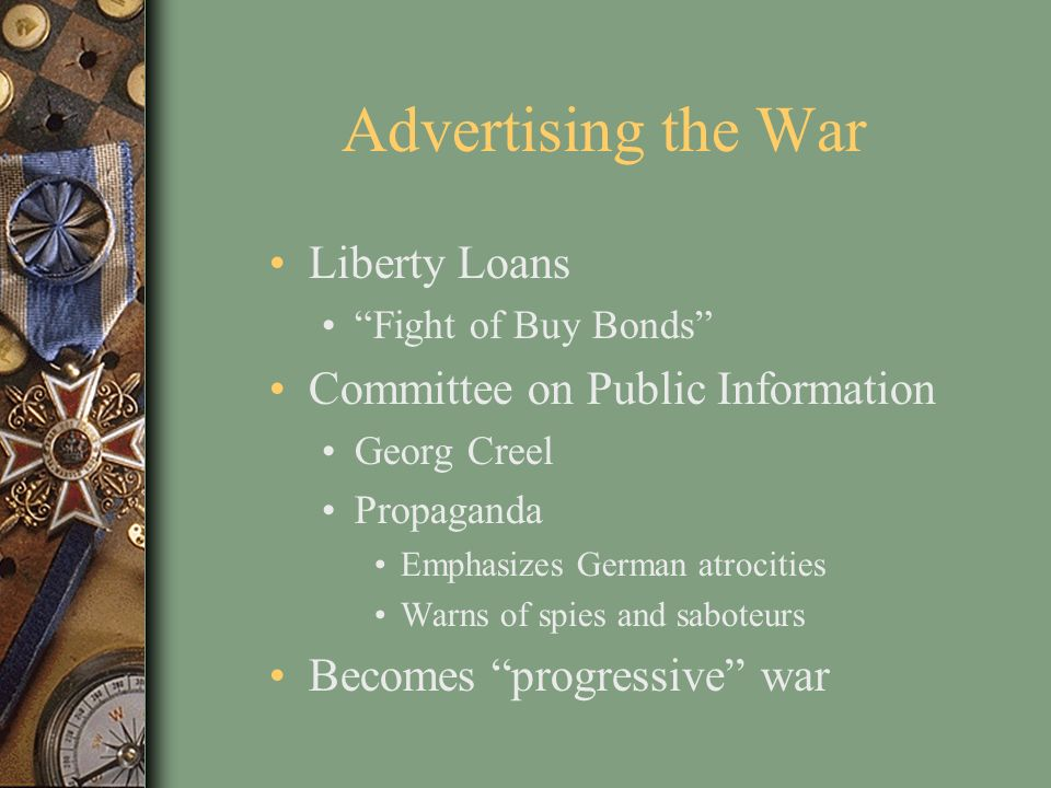 Advertising the War Liberty Loans Committee on Public Information