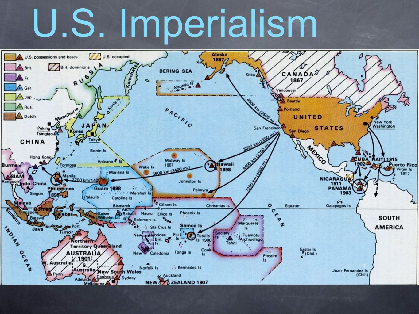 U.S. enters the imperialism game...they did enter a little late ...