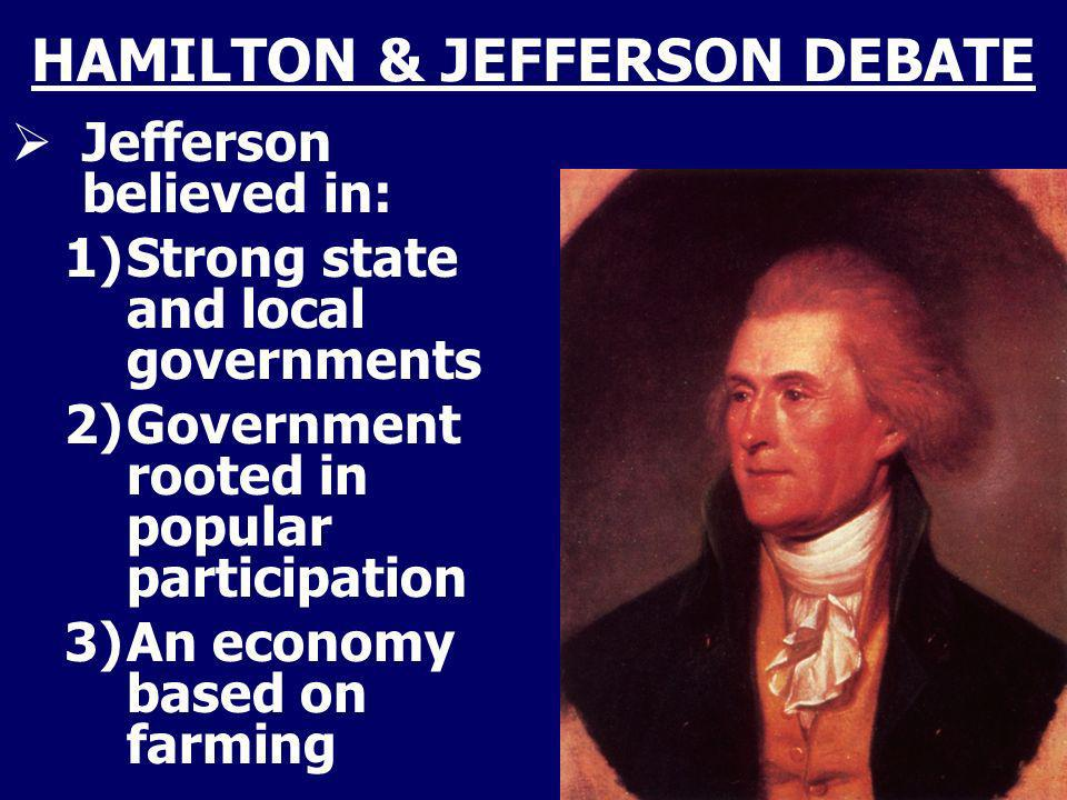 HAMILTON & JEFFERSON DEBATE