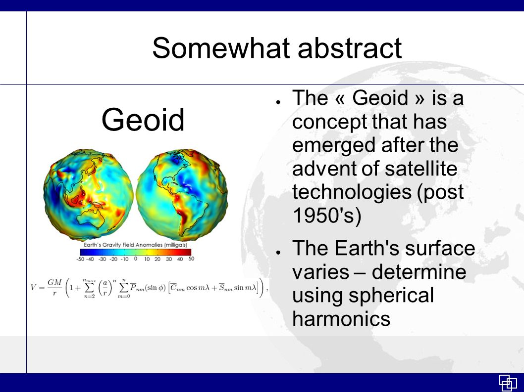Geoid Somewhat abstract