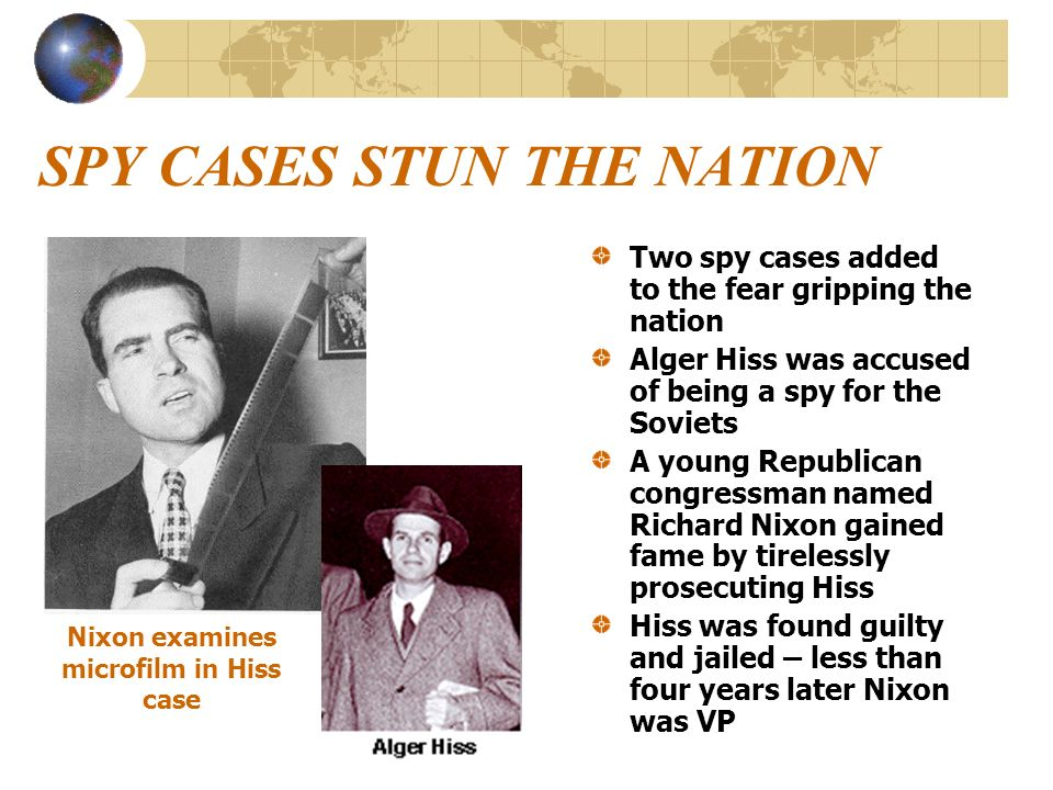SPY CASES STUN THE NATION