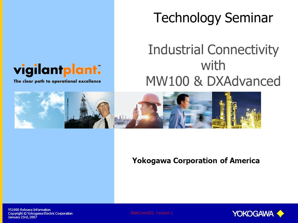 Technology Seminar Industrial Connectivity with MW100 & DXAdvanced