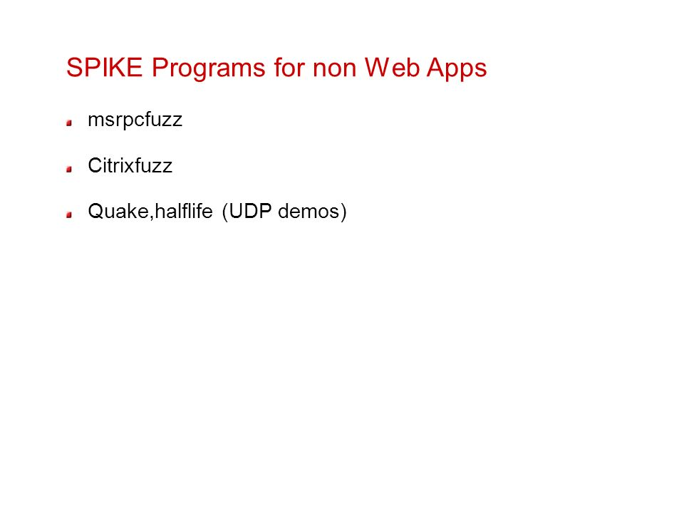 SPIKE Programs for non Web Apps
