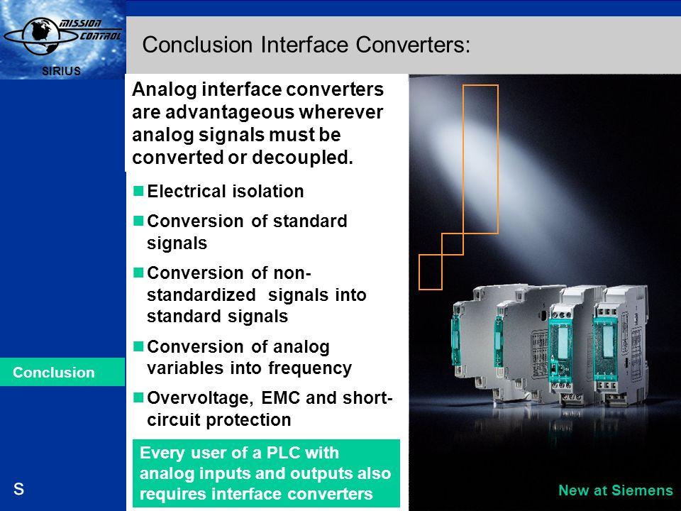 Conclusion Interface Converters: