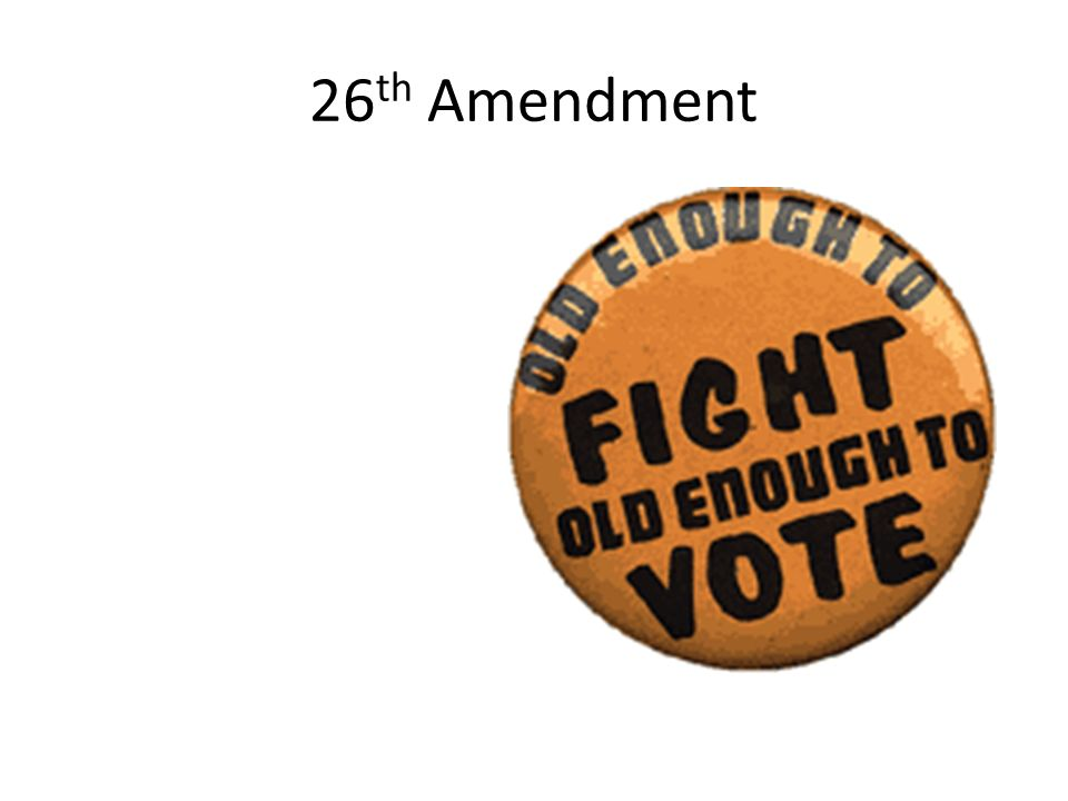 26th Amendment