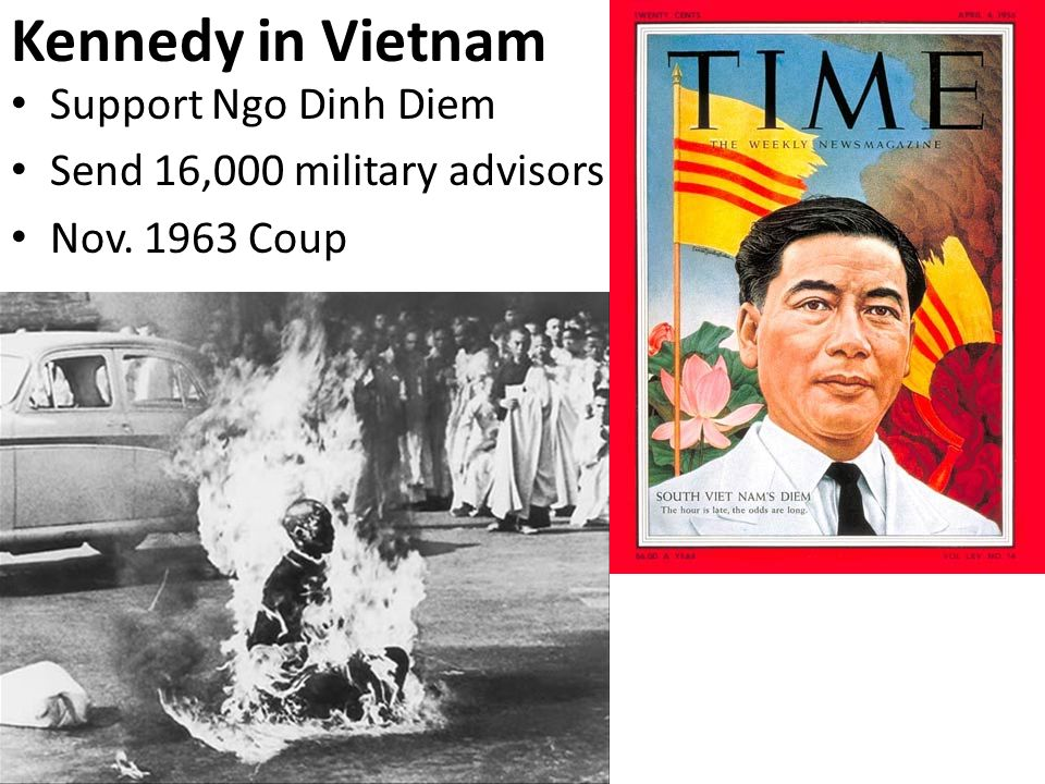 Kennedy in Vietnam Support Ngo Dinh Diem Send 16,000 military advisors