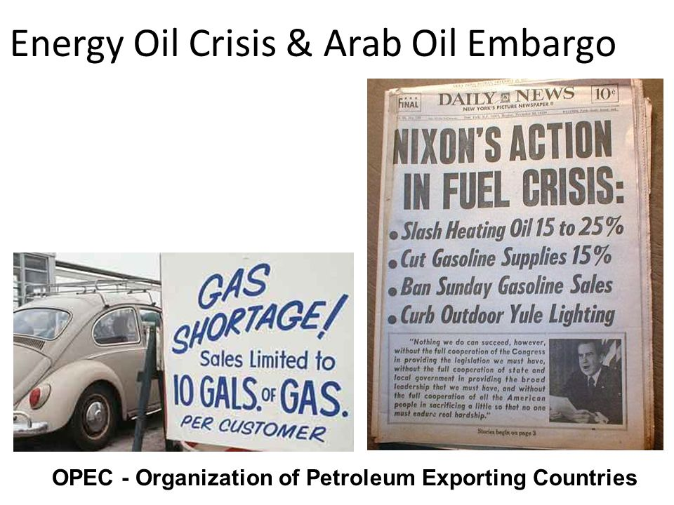 Energy Oil Crisis & Arab Oil Embargo
