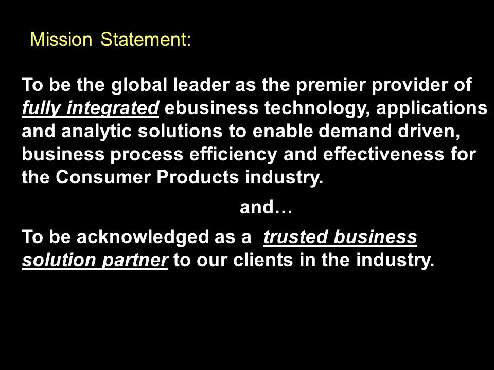 Mission Statement: