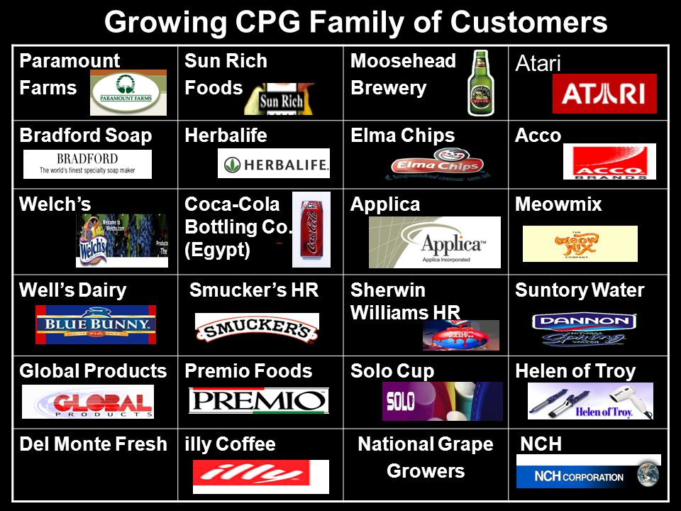 Growing CPG Family of Customers