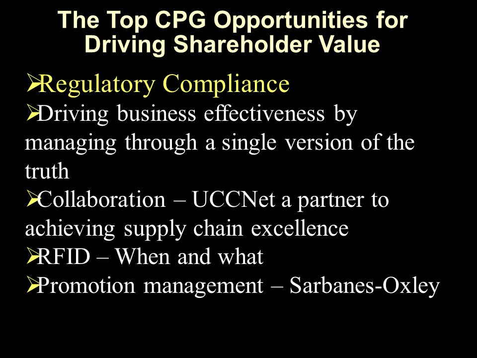The Top CPG Opportunities for Driving Shareholder Value