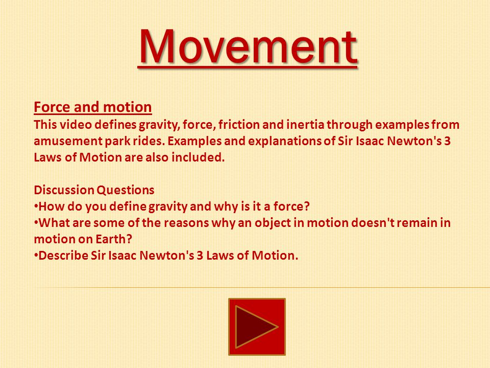 movement ppt download rh slideplayer com Effect of Gravity On Motion Gravity and Motion Activities