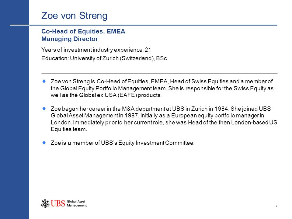 Zoe von Streng Co-Head of Equities, EMEA Managing Director