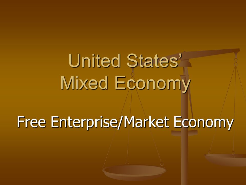 United States' Mixed Economy