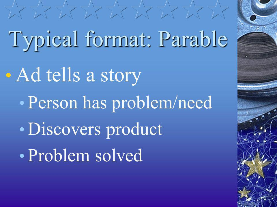 Typical format: Parable