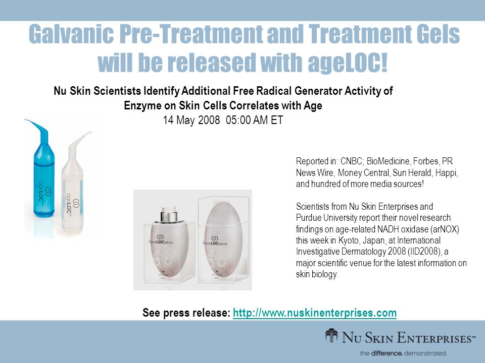 Galvanic Pre-Treatment and Treatment Gels will be released with ageLOC!