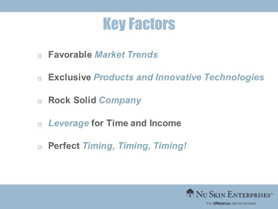 Key Factors Favorable Market Trends
