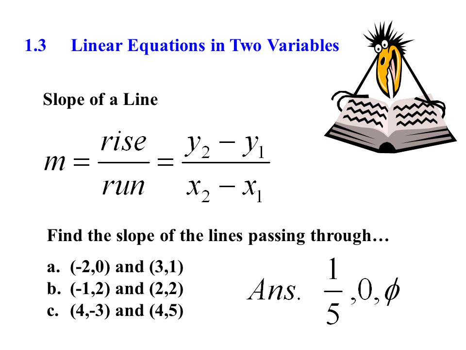 1 3 Linear Equations In Two Variables Ppt Download