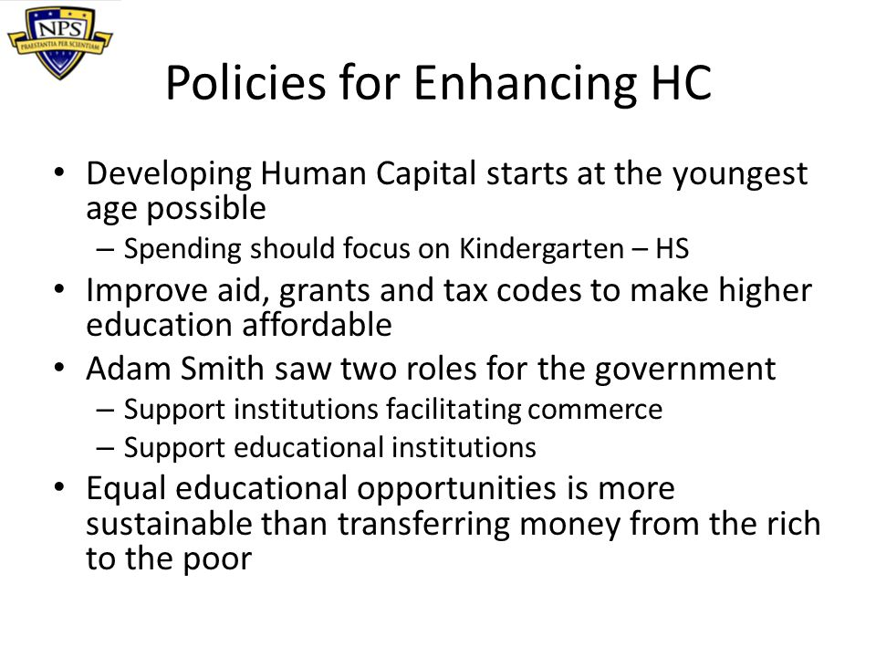 Policies for Enhancing HC