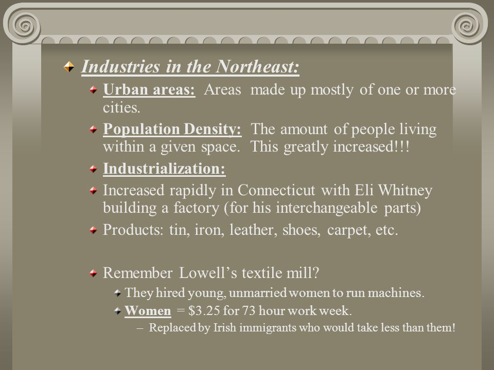 Industries in the Northeast: