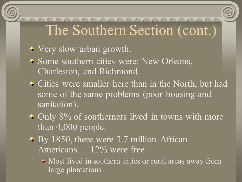 The Southern Section (cont.)