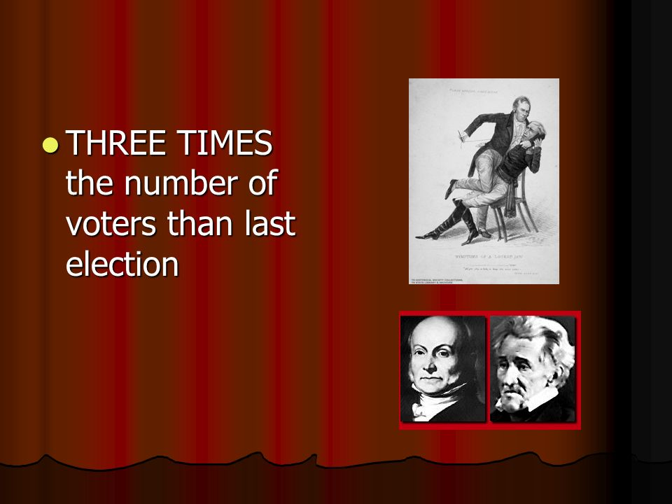 THREE TIMES the number of voters than last election