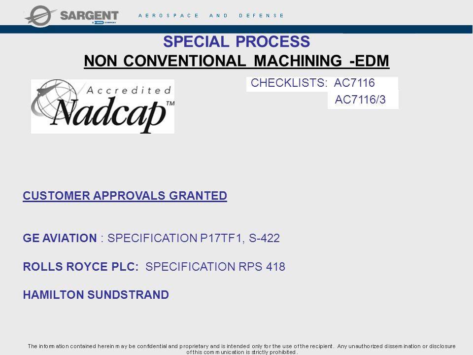 SPECIAL PROCESS NON CONVENTIONAL MACHINING -EDM