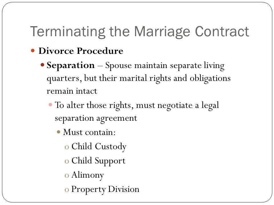 Contractual Aspects Of Marriage And Divorce Ppt Video Online Download
