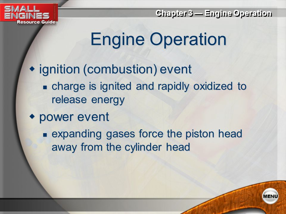Engine Operation ignition (combustion) event power event