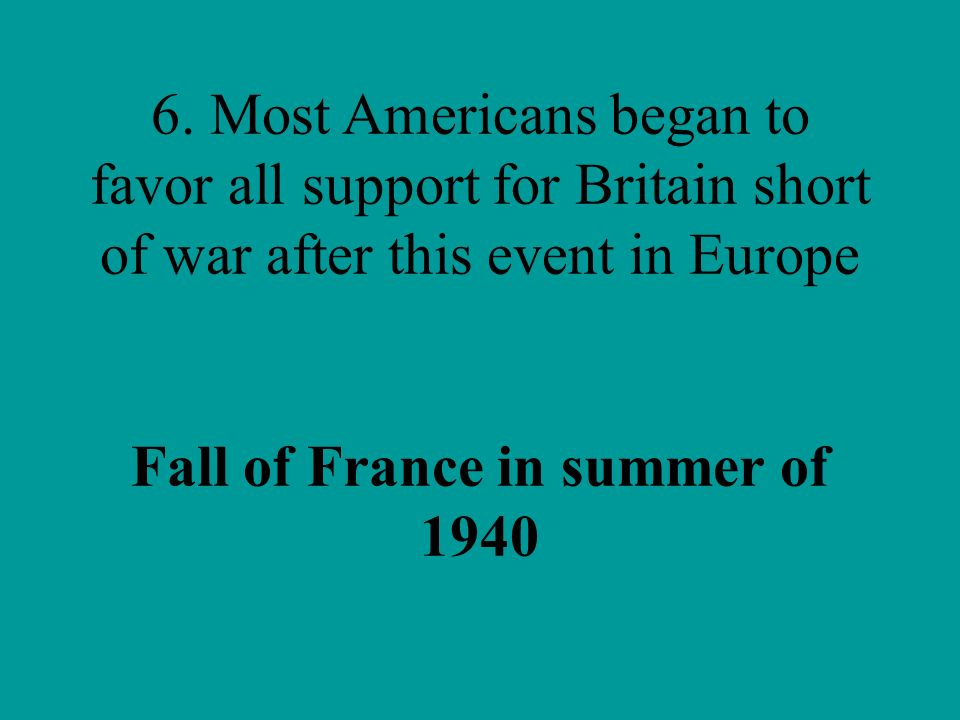 Fall of France in summer of 1940