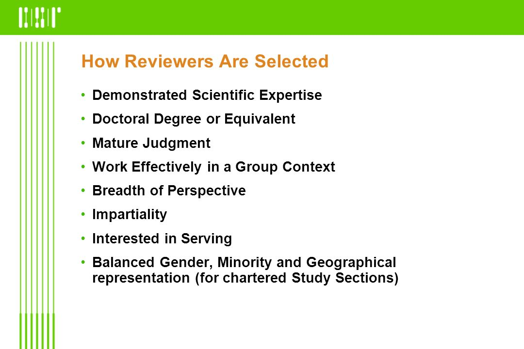 How Reviewers Are Selected