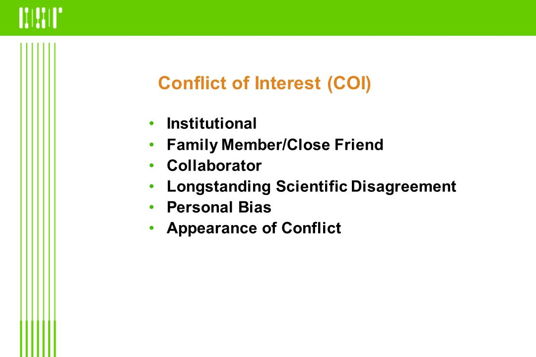 Conflict of Interest (COI)