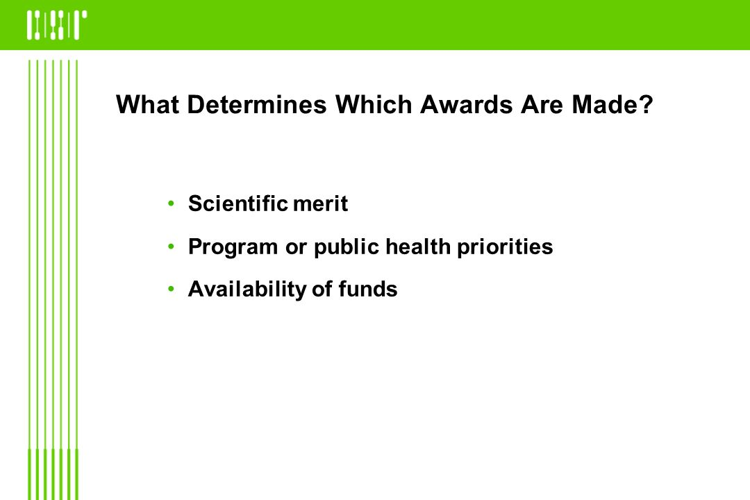 What Determines Which Awards Are Made