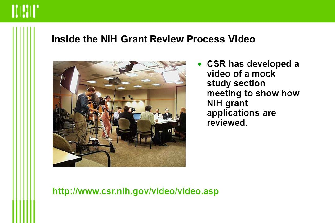 Inside the NIH Grant Review Process Video