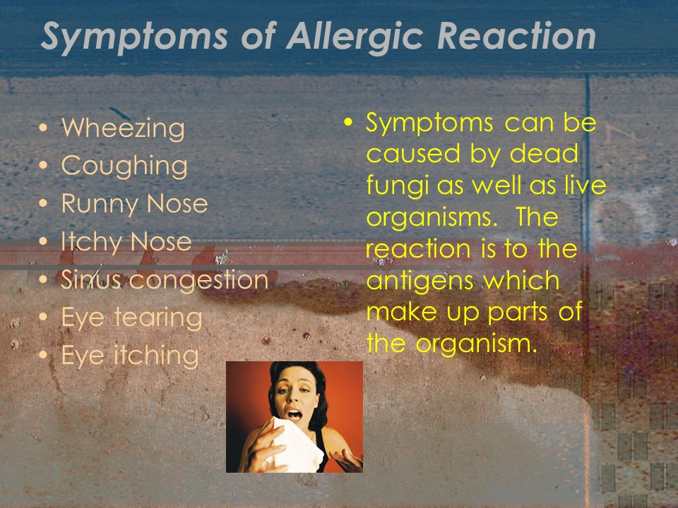 Symptoms of Allergic Reaction