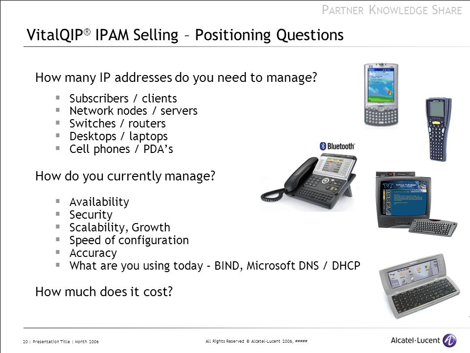 VitalQIP® IPAM Selling – Positioning Questions