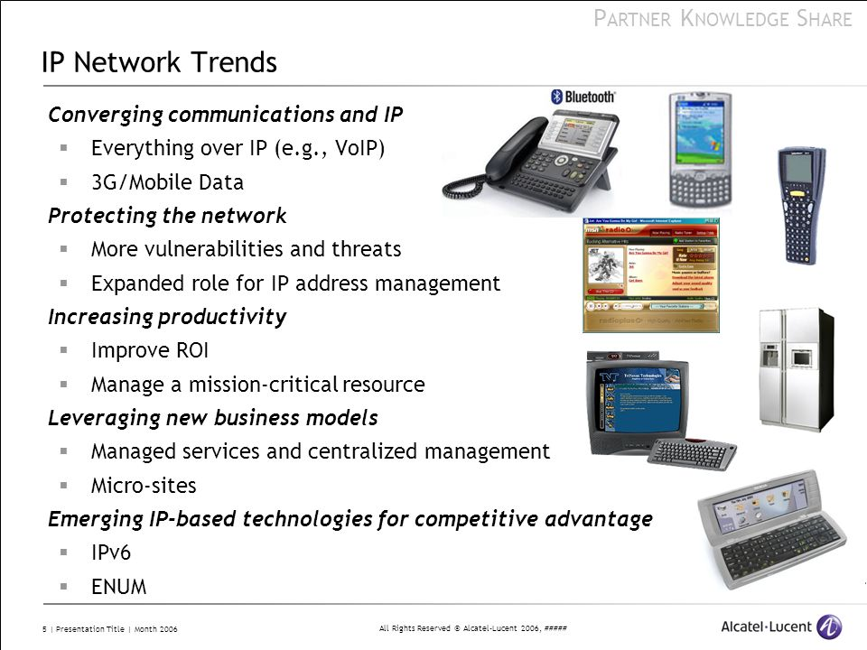 IP Network Trends Converging communications and IP