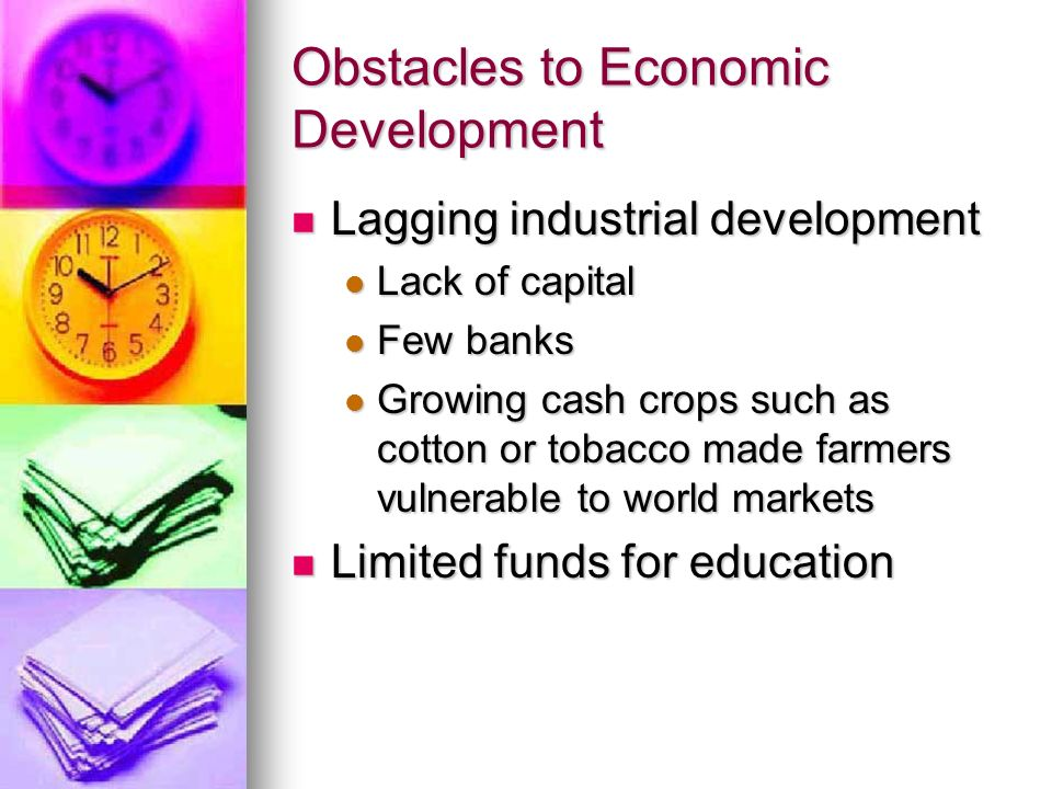 Obstacles to Economic Development