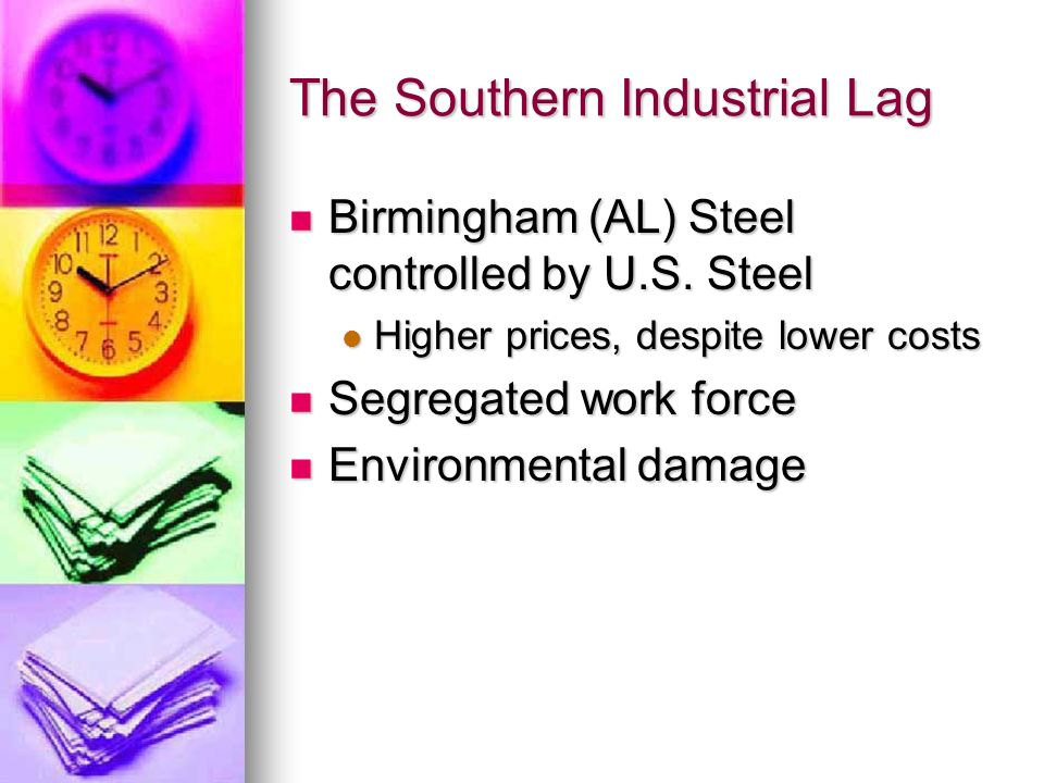 The Southern Industrial Lag