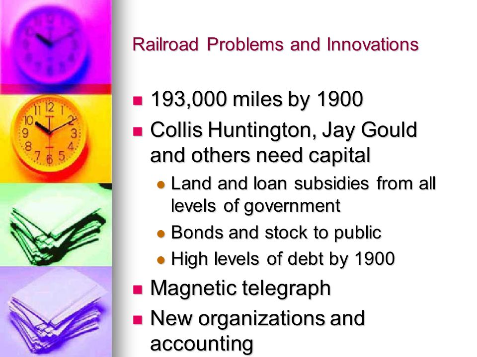 Railroad Problems and Innovations