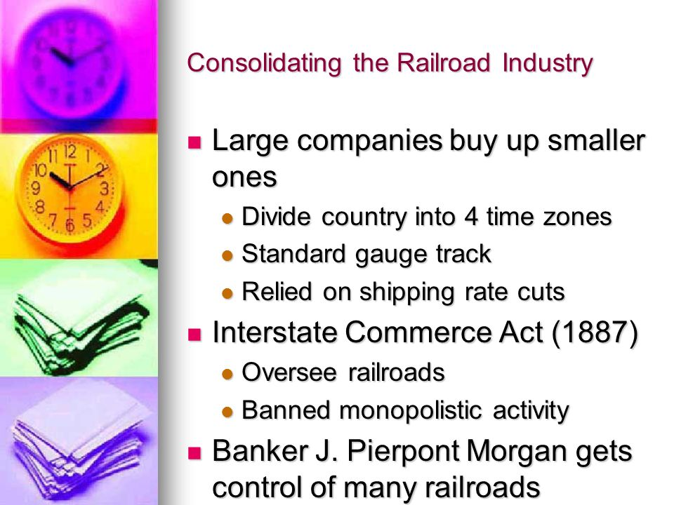 Consolidating the Railroad Industry