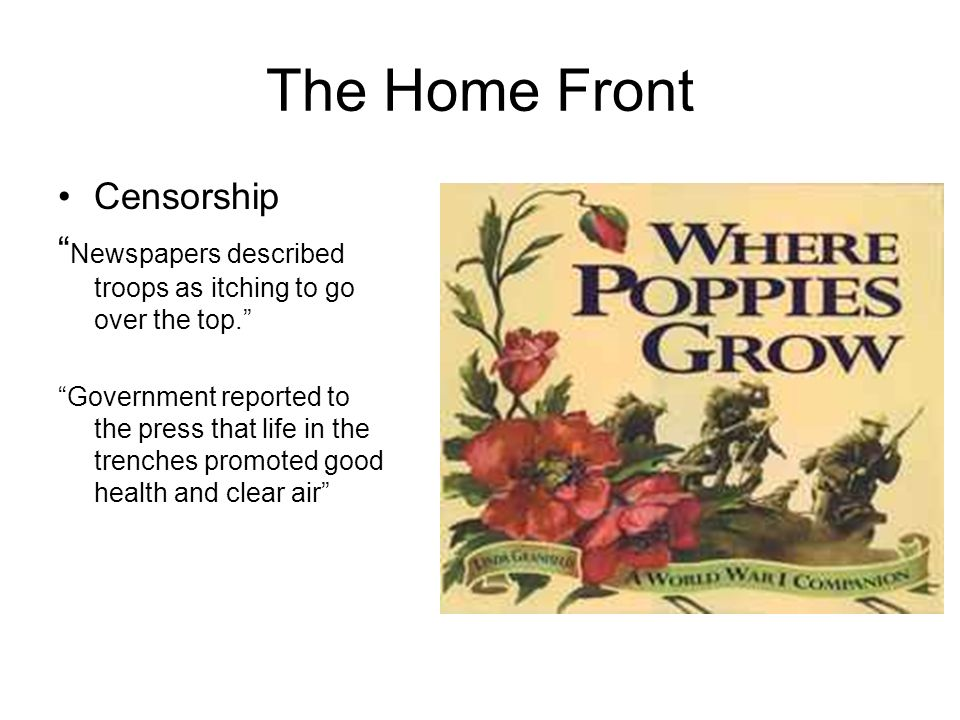 The Home Front Censorship
