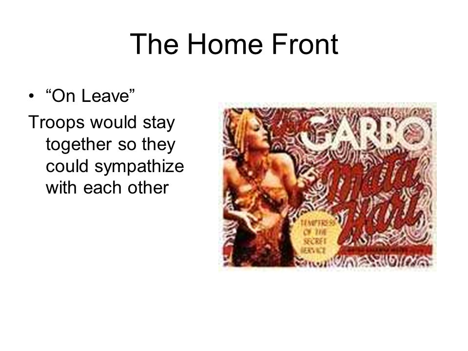The Home Front On Leave